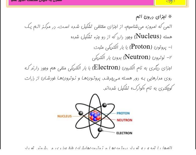 اتم چیست؟ منظومه ای کوچک به نام اتم